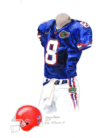 Florida Gators 2001 - Heritage Sports Art - original watercolor artwork - 1
