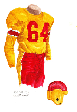 Florida State Seminoles 1947 - Heritage Sports Art - original watercolor artwork - 1