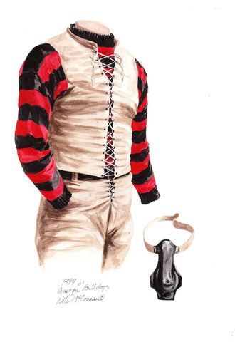 Georgia Bulldogs 1894 - Heritage Sports Art - original watercolor artwork - 1