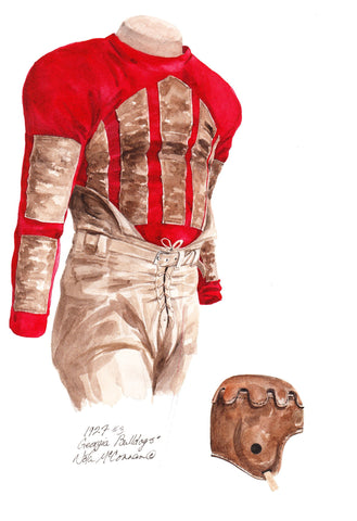 Georgia Bulldogs 1927 - Heritage Sports Art - original watercolor artwork - 1