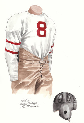 Georgia Bulldogs 1930 - Heritage Sports Art - original watercolor artwork - 1