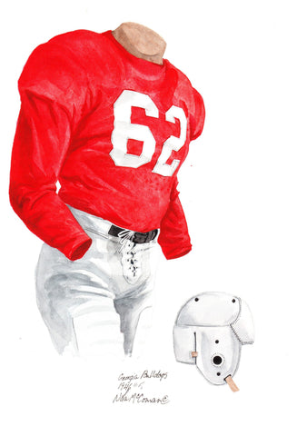 Georgia Bulldogs 1946 - Heritage Sports Art - original watercolor artwork - 1
