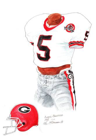 Georgia Bulldogs 1992 - Heritage Sports Art - original watercolor artwork - 1