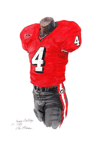 Georgia Bulldogs 1998 - Heritage Sports Art - original watercolor artwork - 1