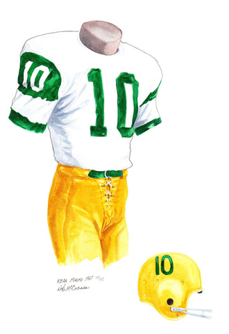 Miami Hurricanes 1961 - Heritage Sports Art - original watercolor artwork - 1