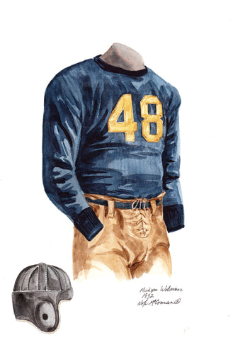 Michigan Wolverines 1932 - Heritage Sports Art - original watercolor artwork - 1