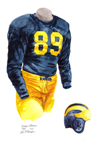 Michigan Wolverines 1948 - Heritage Sports Art - original watercolor artwork - 1