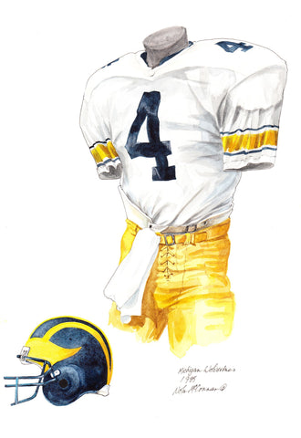 Michigan Wolverines 1985 - Heritage Sports Art - original watercolor artwork - 1