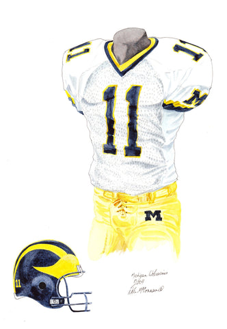 Michigan Wolverines 2004 - Heritage Sports Art - original watercolor artwork - 1