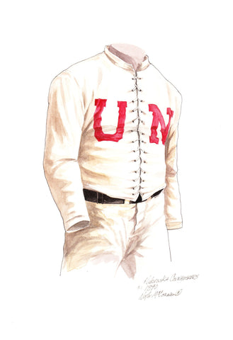 Nebraska Cornhuskers 1890 - Heritage Sports Art - original watercolor artwork - 1