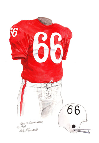 Nebraska Cornhuskers 1965 - Heritage Sports Art - original watercolor artwork - 1