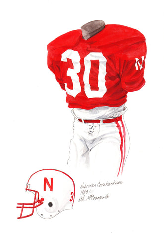 Nebraska Cornhuskers 1983 - Heritage Sports Art - original watercolor artwork - 1