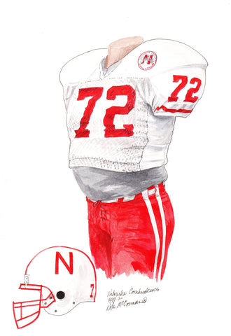 Nebraska Cornhuskers 1994 - Heritage Sports Art - original watercolor artwork - 1