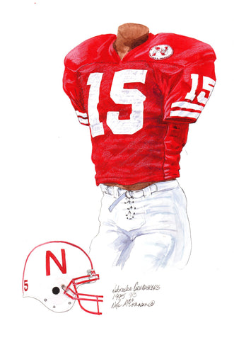 Nebraska Cornhuskers 1995 - Heritage Sports Art - original watercolor artwork - 1