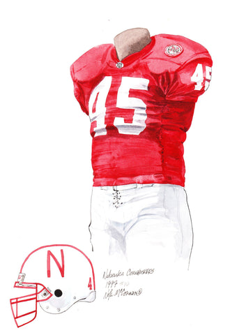 Nebraska Cornhuskers 1997 - Heritage Sports Art - original watercolor artwork - 1