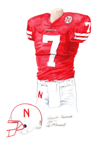 Nebraska Cornhuskers 2001 - Heritage Sports Art - original watercolor artwork - 1