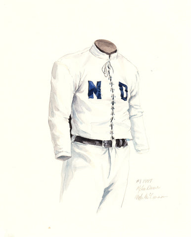 Notre Dame Fighting Irish 1887 - Heritage Sports Art - original watercolor artwork - 1