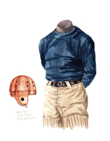 Notre Dame Fighting Irish 1912 - Heritage Sports Art - original watercolor artwork - 1
