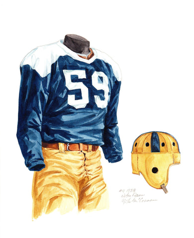 Notre Dame Fighting Irish 1938 - Heritage Sports Art - original watercolor artwork - 1