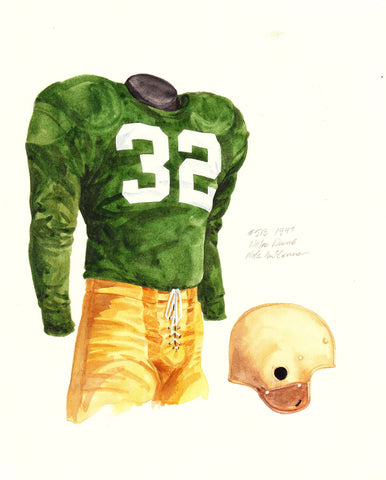 Notre Dame Fighting Irish 1947 - Heritage Sports Art - original watercolor artwork - 1