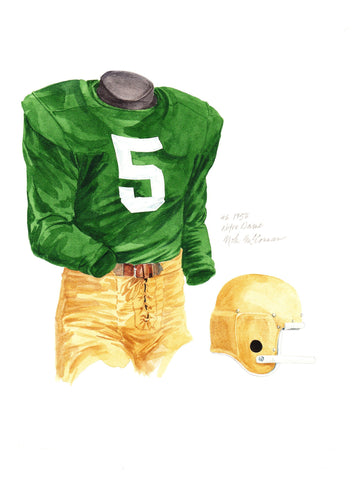 Notre Dame Fighting Irish 1956 - Heritage Sports Art - original watercolor artwork - 1
