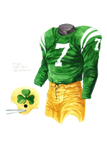 Notre Dame Fighting Irish 1962 - Heritage Sports Art - original watercolor artwork - 1
