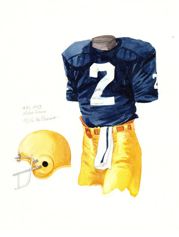 Notre Dame Fighting Irish 1973 - Heritage Sports Art - original watercolor artwork - 1