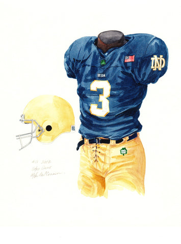 Notre Dame Fighting Irish 2002 - Heritage Sports Art - original watercolor artwork - 1