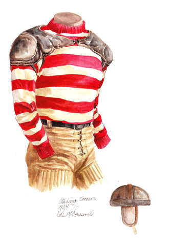 Oklahoma Sooners 1904 - Heritage Sports Art - original watercolor artwork - 1