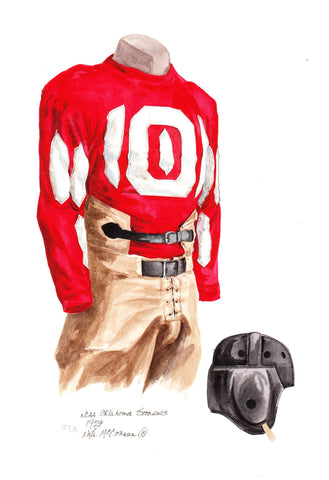Oklahoma Sooners 1929 - Heritage Sports Art - original watercolor artwork - 1