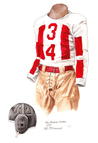 Oklahoma Sooners 1932 - Heritage Sports Art - original watercolor artwork - 1