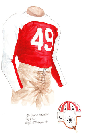 Oklahoma Sooners 1938 - Heritage Sports Art - original watercolor artwork - 1