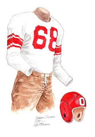 Oklahoma Sooners 1939 - Heritage Sports Art - original watercolor artwork - 1