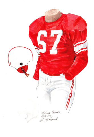 Oklahoma Sooners 1948 - Heritage Sports Art - original watercolor artwork - 1