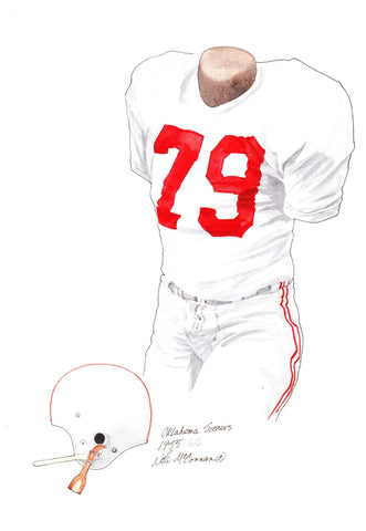 Oklahoma Sooners 1955 - Heritage Sports Art - original watercolor artwork - 1