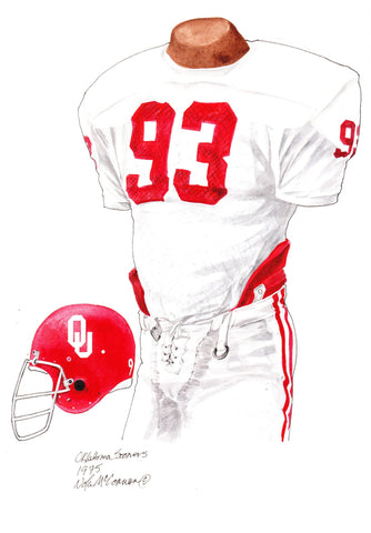 Oklahoma Sooners 1975 - Heritage Sports Art - original watercolor artwork - 1