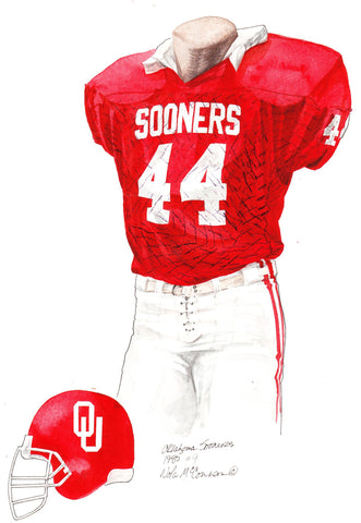 Oklahoma Sooners 1985 - Heritage Sports Art - original watercolor artwork - 1