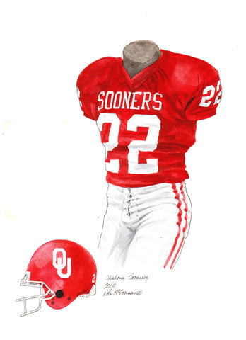 Oklahoma Sooners 2000 - Heritage Sports Art - original watercolor artwork - 1