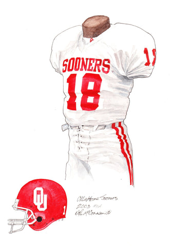 Oklahoma Sooners 2003 - Heritage Sports Art - original watercolor artwork - 1