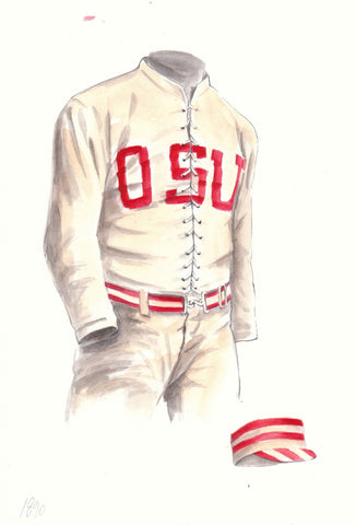 Ohio State Buckeyes 1890 - Heritage Sports Art - original watercolor artwork - 1