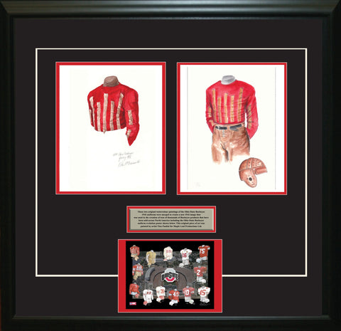 Ohio State Buckeyes 1916 - Heritage Sports Art - original watercolor artwork