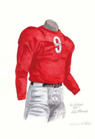 Ohio State Buckeyes 1939 - Heritage Sports Art - original watercolor artwork - 1