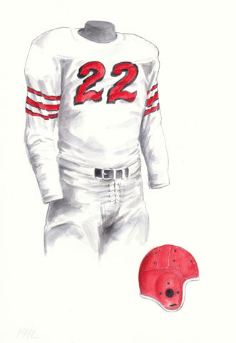 Ohio State Buckeyes 1942 - Heritage Sports Art - original watercolor artwork - 1