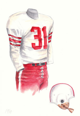 Ohio State Buckeyes 1950 - Heritage Sports Art - original watercolor artwork - 1