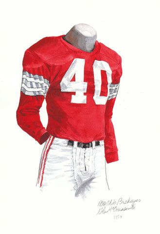 Ohio State Buckeyes 1954 - Heritage Sports Art - original watercolor artwork - 1