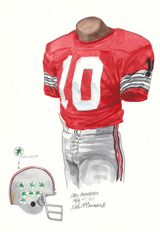 Ohio State Buckeyes 1968 - Heritage Sports Art - original watercolor artwork - 1