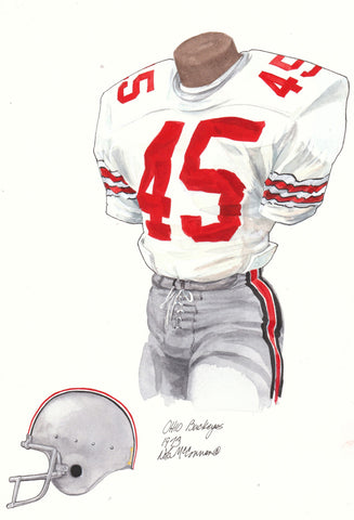 Ohio State Buckeyes 1973 - Heritage Sports Art - original watercolor artwork - 1