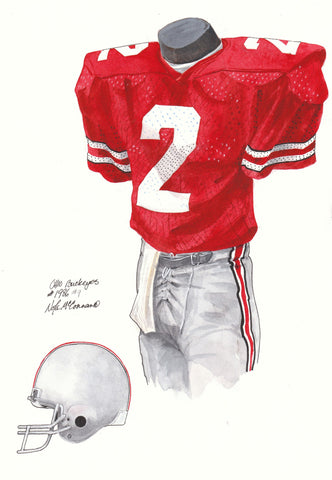 Ohio State Buckeyes 1986 - Heritage Sports Art - original watercolor artwork - 1