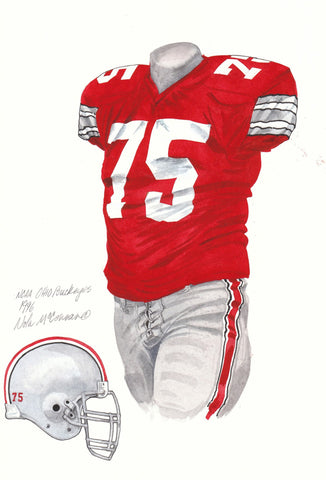 Ohio State Buckeyes 1996 - Heritage Sports Art - original watercolor artwork - 1