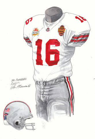Ohio State Buckeyes 2002 - Heritage Sports Art - original watercolor artwork - 1